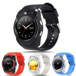 $enCountryForm.capitalKeyWord Canada - V8 Smart Watch Wristwatch with 0.3M Camera MTK6261D Support Sim TF Card Slot Bluetooth Sport Clock Smartwatch for Android Phone