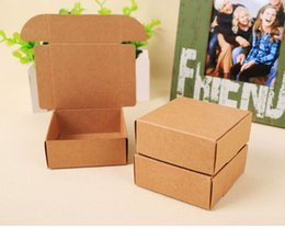$enCountryForm.capitalKeyWord Canada - Joy 50pcs kraft cardboard box handmade soap packaging box DIY wedding gift package kraft jewelry packaging craft box small
