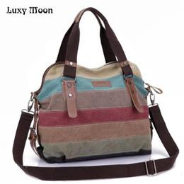 7895258ab0 Luxy Moon Rainbow Color Fashion Messenger Bags Canvas Super patchwork  handbag Shopping Totes Handbags Casual Shoulder Bag Bolsas D18101303