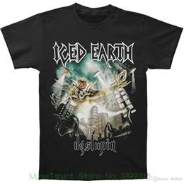 Vente en gros Authentieke Iced Dystopia Cover Couverture de l'album en métal lourd T-shirt S-2xl Nieuwe Hoge Kwalitei