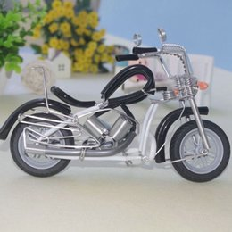 Toy Metal Bus NZ - Originality Children Toys Manual Aluminum Wire Cool Motorcycle Modeling Metal Home Ornament Funny Vehicle Model Gift Toy 12wx W