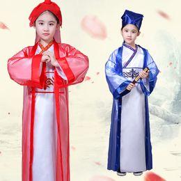$enCountryForm.capitalKeyWord Australia - Children's Ancient Scholar Costume Boys Girls Traditional Chinese Hanfu Folk Costume Child Student Clothe Performance Suit
