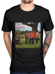 $enCountryForm.capitalKeyWord Canada - Official The Beatles Strawberry Fields Forever Graphic T-Shirt Lennon McCartney 100% Cotton Short Sleeve O-Neck T Shirt Top Tee Basic