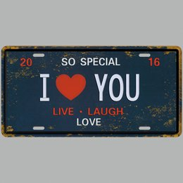 $enCountryForm.capitalKeyWord Australia - So Special I Love You 3D Emboss Car Plates Number USA License Plate Garage Plaque Metal Tin Sign Bar Decoration Vintage Home Decor