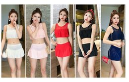 Boxer Style Swimsuits NZ - Women's Bikini Pop New Bikini Women's Swimsuit Split Two-piece Skirt Style Boxer Hot Spring Swimming Dress Wholesale Sale