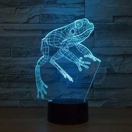 $enCountryForm.capitalKeyWord Canada - Frog 3D Optical Illusion Lamp Night Light DC 5V USB Powered 5th Battery Wholesale Dropshipping Free Shipping
