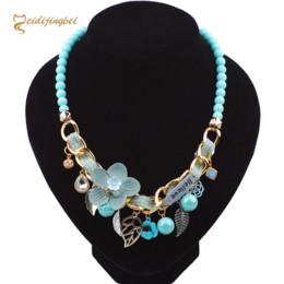 $enCountryForm.capitalKeyWord Australia - MEIDIJINGBEI New necklace jewelry women fashion sweet cloth flowers Belui necklace wear beads clavicle chain a generation to buy