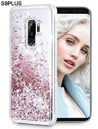 $enCountryForm.capitalKeyWord Australia - Cute Shiny Glitter Moving Quicksand Liquid Clear TPU Protective Phone Cover Case for Samsung Galaxy s9 s9 plus