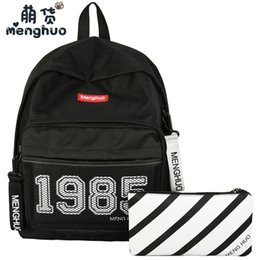 MENGHUO 15 inch Women Laptop Computer Backpack Teenager Large Capacity  Canvas School Bag Girls Female Travel Shoulder s e899c6eee4dea