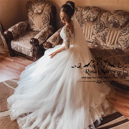 $enCountryForm.capitalKeyWord NZ - Modest Plus Size Boho Beach Wedding Dresses 2020 A Line Long Sleeves Vintage Lace Italy Greek Style Cheap Country Bohemian Bridal Gowns