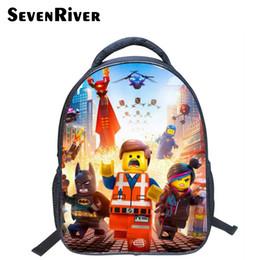 13 Inch High Quality Lego Batman Cartoon Backpack Colorful Kids Schoolbags  Cool Child Student Boy School Bag lego Y18110107 5d1ab502e9622