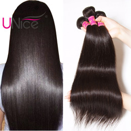 $enCountryForm.capitalKeyWord Australia - UNice Hair Straight Bundles 5 Bundles Indian Unprocessed Remy 100% Human Hair Extensions Wholesale Cheap Nice Silk Hair Weaves 8-30 inch