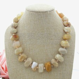 $enCountryForm.capitalKeyWord Australia - N051109 18'' Faceted Yellow Opal Nugget Crystal Necklace