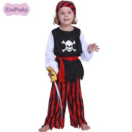 China Erapinky 2018 Halloween Cosplay Clothes Sets For Kids Boys Skull Print Tops+Striped Pants+Headwear+Belt Children Costumes Sets supplier top halloween costumes for kids suppliers