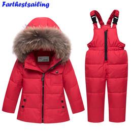 50454c8d12 Ski Jackets Fur NZ - 2018 New Winter Baby Boys Girls Duck Down Snowsuits  Jacket Children