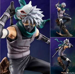 Kids Party Packs NZ - 24cm New Animation Cartoon Naruto Hatake Kakashi With Fox Mask PVC Action Figure Toy packed in Box Kids Toys Party Favor AAA1164