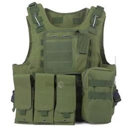 Discount tactical carrier vest - 7 Colors Amphibious Tactical Vest Newest Style Molle Hunting Protection Vest Combat Assault Plate Carrier Hunting