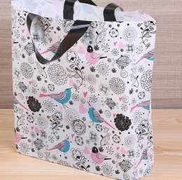Chinese  New thick-top bird picture clothing bag gift shopping convenience bag wholesale 50Cm * 40cm + bottom 10cm manufacturers