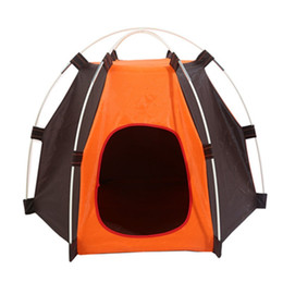 PuPPy car online shopping - Creative Hexagon Pet Tent Removable Easy To Clean Dog Tabernacle Durable Rainproof Sunscreen Puppy Cat Tents High Quality wc B