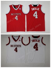 9d4c6dff813 College Jerseys 4 NC State Wolfpack Basketball Jerseys Smith JR. Uniforms  Red White Team Color Stitched High Quality