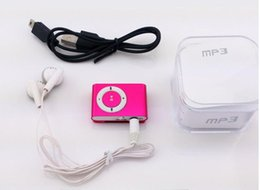 Mp Cables NZ - Mini Clip MP3 Player - 2015 HOT! Cheap Colorful Sport mp3 Players Come with Earphone, USB Cable, Retail Box, Support Micro SD TF Card A-MP