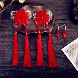 Wholesale Vintage Chinese Classical Ancient Style Women s Hair Jewelry Flowers Tassel Hair Decor