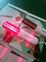 Laser hair comb online shopping - Anti hair loss Laser Micro current Radio Frequency Photon LED Machine Hair Regrowth Comb red LED promote blood circulation