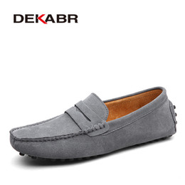 6cbafdda22c7 DEKABR Brand Fashion Summer Style Soft Moccasins Men Loafers High Quality  Genuine Leather Shoes Men Flats Gommino Driving Shoes