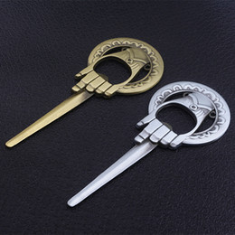 $enCountryForm.capitalKeyWord Australia - Game of Thrones Hand Of The King Bottle Opener keychain Tool Bar Beer Opener Metal Without Chain