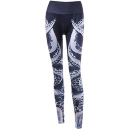Women S Yoga Pants Wholesale NZ - Leggins Sport Women Fitness Fashion Womens Octopus 3D Printing Sports Gym Running Yoga Athletic Pants spontsweara jogging femme