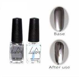 Discount diy mirrors - Wholesale Silver Mirror Effect Metal Nail Polish Varnish Base Coat Metallic Nails Art Tips DIY Manicure Design 6ml