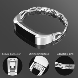 rhinestone bands for watch UK - Fitbit Alta Bands,Fitbit Fitness Wristband Smart Watch Stainless Steel Replacement with Rhinestone Jewelry Strap for Fitbit Alta   Fitbit Al