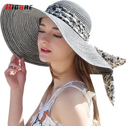 704f098ef4248 New Casual Fold Ladies Sun Hats UV Protection Straw Cap Sun Hat For Women  Summer Beach With Big Heads Chapeu Feminino De Praia