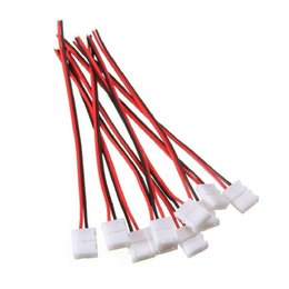 $enCountryForm.capitalKeyWord Australia - WIXURE 10pcs Pack Strip Wire Solderless Snap Down 2Pin Conductor LED Strip Connector for 8mm Wide 3528 2835 Single Color Flex LE