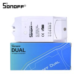 Wholesale Original Sonoff Dual CH Wifi Smart Switch Home Remote Control Wireless Switch Universal Module Timer Wi fi Switch Smart Home Controller