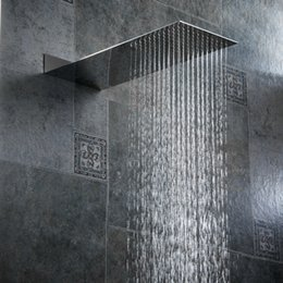Stainless Shower NZ - BECOLA bathroom shower nozzle pressure Into the wall concealed shower head Ultra thin stainless steel head