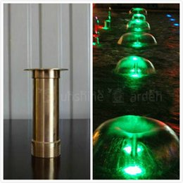 """Discount metal heads - 2pcs Copper Mushroom Hemisphere Nozzle G1 2"""" Male and G3 4"""" Female Connector Fountain Sprinklers Brass Foundta"""