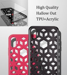 Wholesale High Quality Utra thin D Mirror Transparent Acrylic TPU in Hybrid Case for iPhone X S Plus Hollow Out