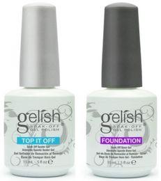 harmony polish 2019 - 48pcs Top Quality Soak Off Nail Gel Polish For Nail Art Gel Lacquer Led uv Harmony Gelish Base Coat Foundation & Top coa