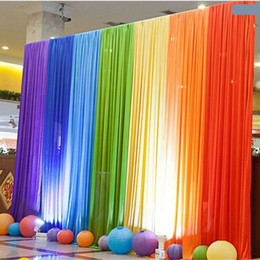 Background curtain decorations online shopping - New Pattern Wedding Ceremony Background Yarn Originality Stage Arrangement Travel Permit Prop Curtain Large Size Party Decoration sh4 Ww