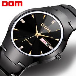Relogio Masculino 2018 DOM Tungsten Steel Men Watch Quartz  Sapphire Casual Diamond Male Wristwatch Dress Waterproof