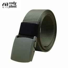 $enCountryForm.capitalKeyWord Canada - Cody Steel Plastic Buckle Man Belts Canvas Casual Men Brand Belts Solid Color Practical Male Simple 110CM,120CM