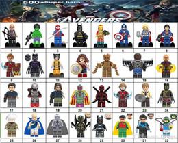 Marvel Blocks Figure NZ - Wholsale Super hero Mini Figures Marvel Avengers DC Justice League Wonder woman Ironman Batman Black Panther building blocks kids gifts