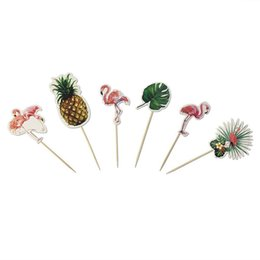 $enCountryForm.capitalKeyWord UK - Pineapple Flamingo Theme Party Cake Toppers Wedding Birthday Party Decorations Adult Kids DIY Cupcake Paper Supplies