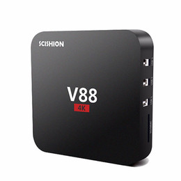 Chinese  Poctek V88 TV box Android 7.1 RK3229 1G 8G 4K x 2K 60fps 10bit H.265 17.3 WiFi Loaded better than X96 Mini Set Top Box manufacturers