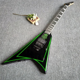 Hot frets online shopping - Hot sales flying V body electric guitar with frets for rock and roll