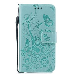 Wholesale Flower Wallet Leather Case For Samsung Galaxy A60 A70 A20E A5 J3 J5 J7 J4 J6 A6 PLUS S7 EDGE S8 S9 A8 Butterfly Stand Rope Cover