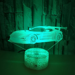 $enCountryForm.capitalKeyWord Australia - Seven Color Touch Remote Sports Car 3d Acrylic Table Lamp Christmas Black Decorations For Home Car 3d Night Light Desk Lamp