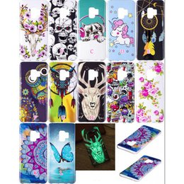glow dark case 2019 - Luminous Soft TPU Case For Sony L2 XA2 Galaxy S9 Plus Glow In Dark Skull Dreamcatcher Unicorn Owl Flower Cover Butterfly