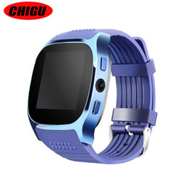smart watch phone q18 2019 - CHIGU T8 Smart Watch With Camera Facebook Whatsapp Support SIM TF Card Call Smartwatch For Android Phone PK Q18 A1 cheap